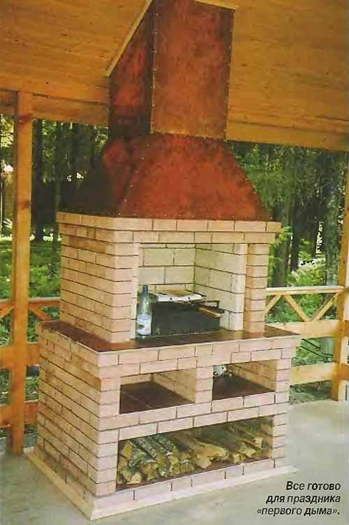 Печь-барбекю из гиперпрессованного кирпича электрокамины фото и их цена