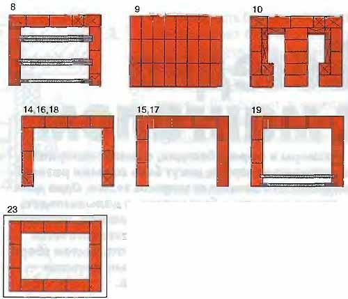 Мангал-камин из кирпича своими руками схема 35