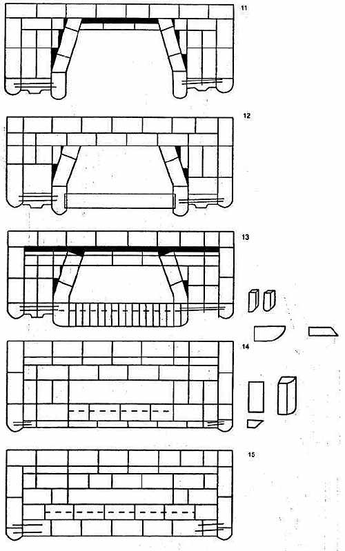 Порядовка кладки камина 1. Металлические банные печи, камины.  Материалы и схемы кладки.