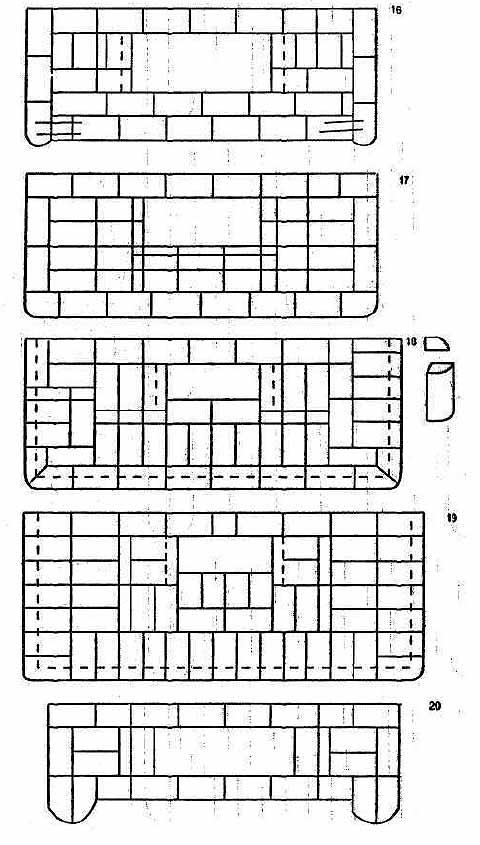 кирпичная печь схема кладки - Практическая схемотехника.