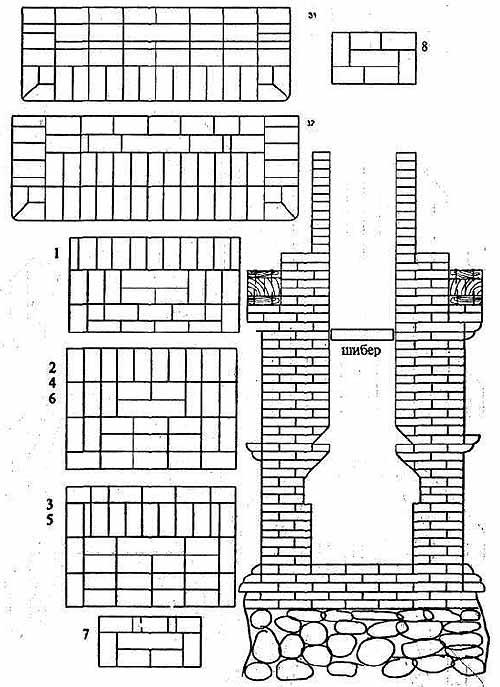 камины схемы кладки - Нужные схемы и описания для всех.